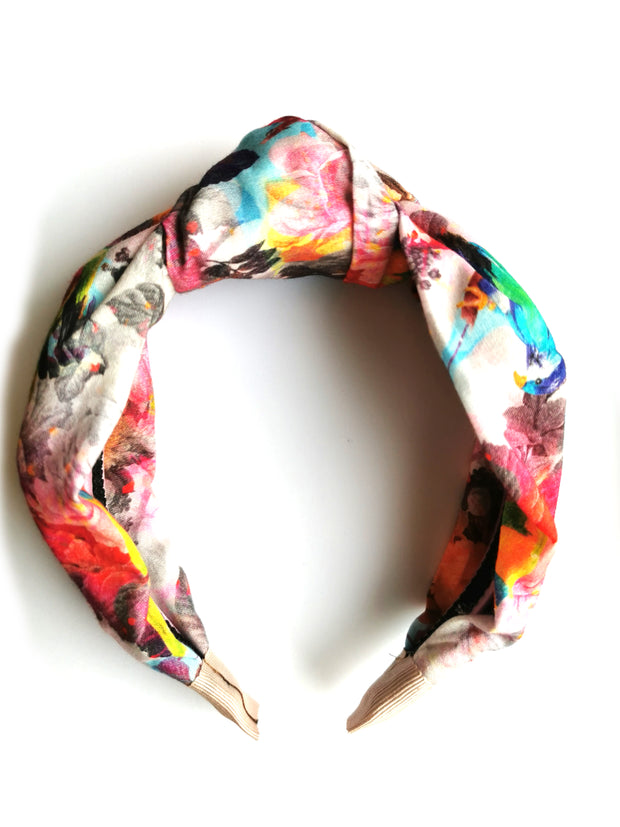 Summer Vibes -floral  print knot top headband