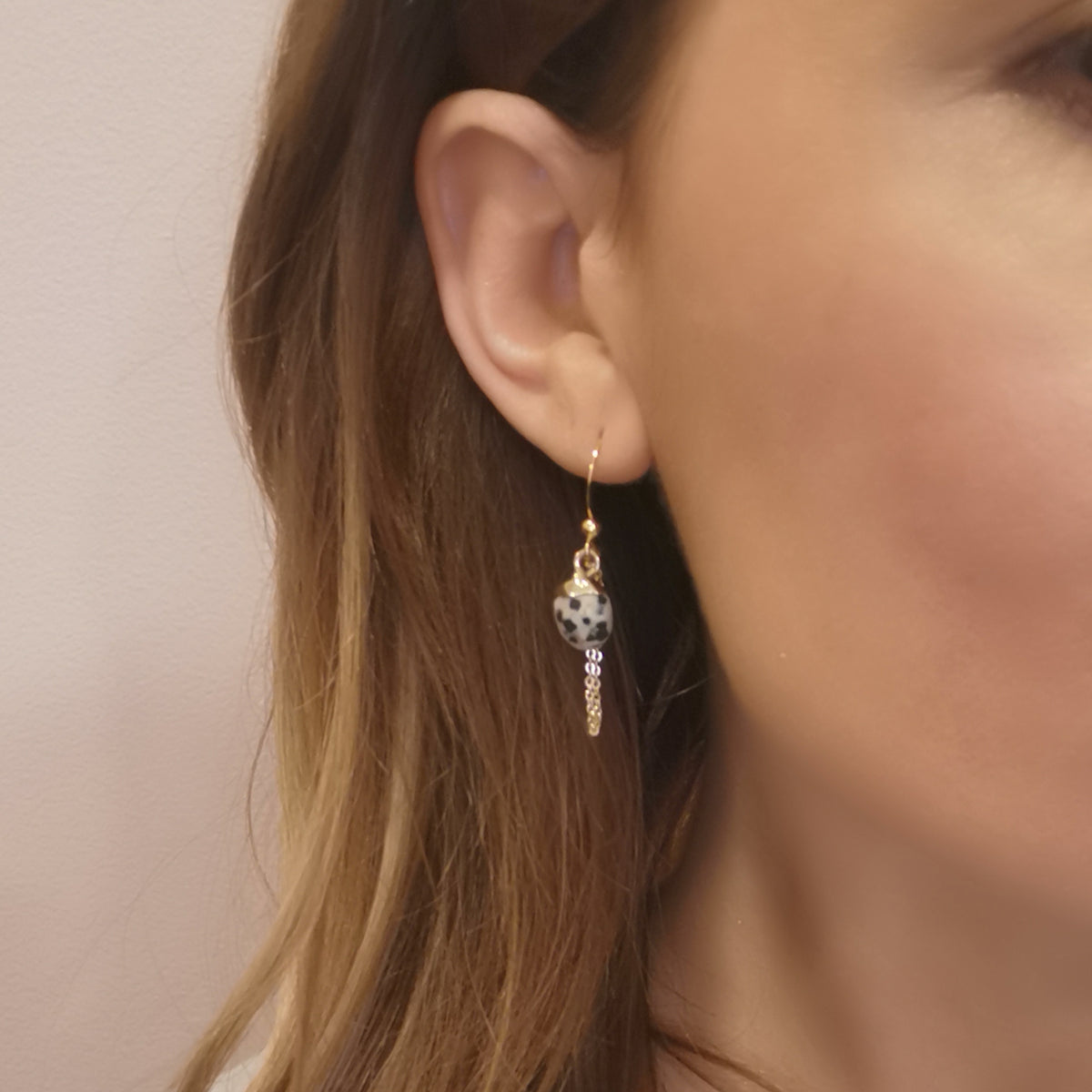 Lux Quartz Paris Earrings - Leopard
