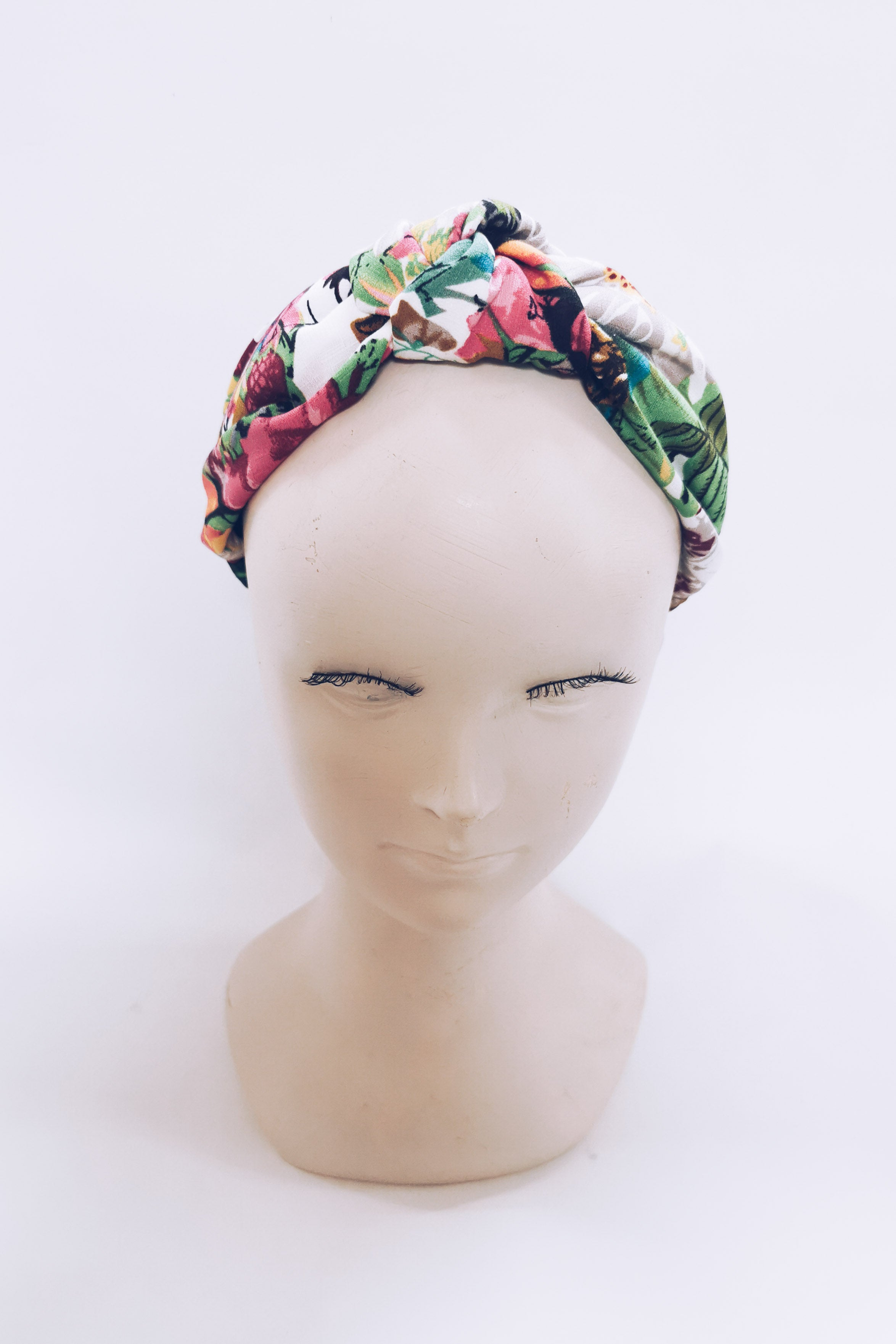 Floral knot top headband - Pink florals
