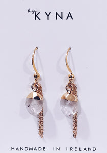 Lux Quartz Paris Earrings - Fog