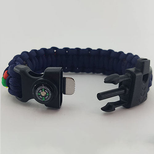 RLC Royal Logistics Corp Paracord Badged Survival Bracelet Wristband Gift
