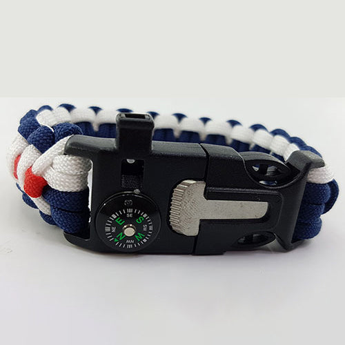 Army Navy Rugby Badged Survival Bracelet Tactical Edge.