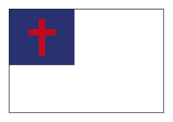5'x8' Christian Flag ( All sewn)