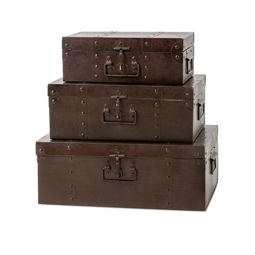 TY Persimmon Metal Trunks - Set of 3