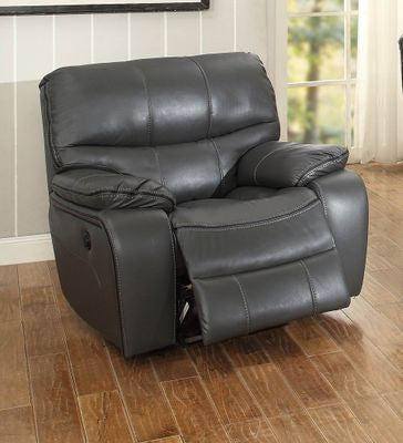 Pecos Leather Recliner Grey