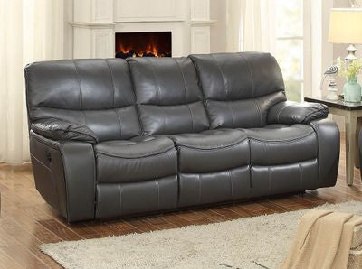 Pecos Leather Sofa Grey
