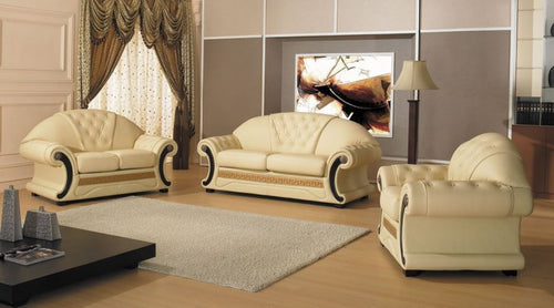 Divani Casa Cleopatra - Traditional Leather Sofa Set