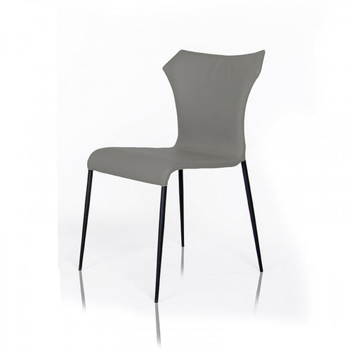 Modrest Mercer - Modern Grey Leatherette Dining Chair Set of 2