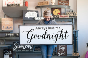 Always Kiss Me Goodnight Bedroom Wall Decor