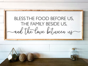 Bless the Food Family Sign