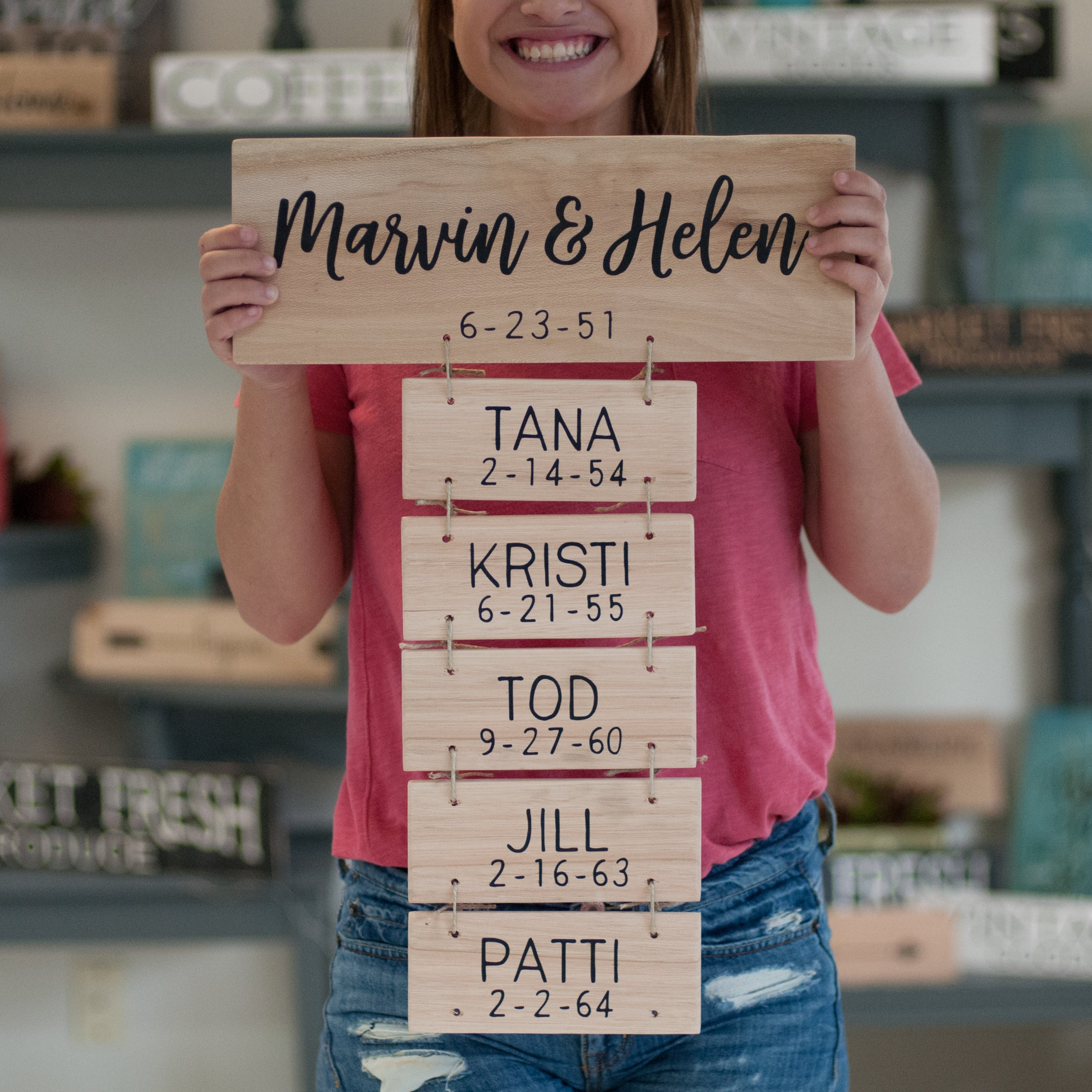 Personalized Family Name Reclaimed Wood Sign