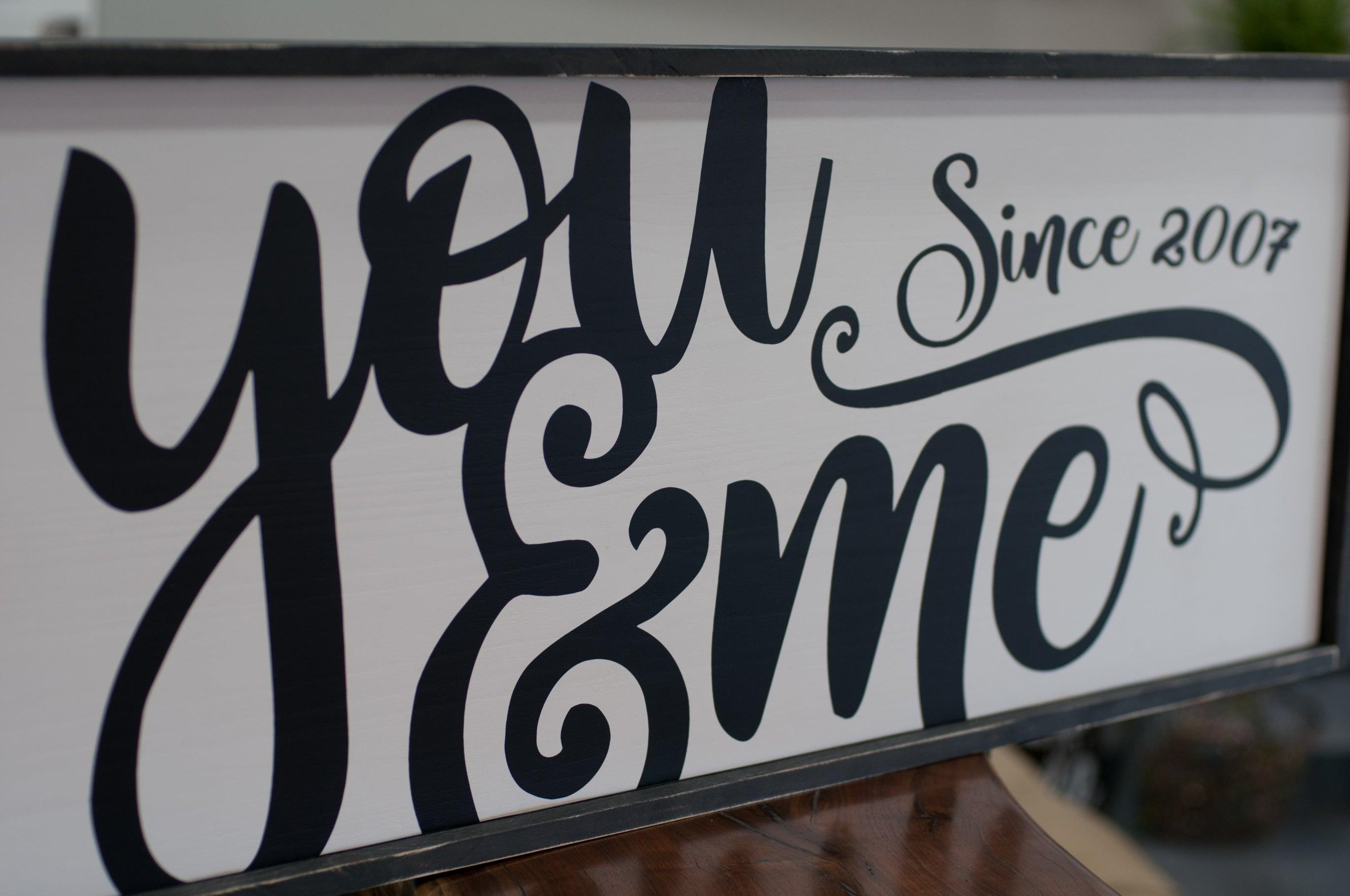 "Large Framed Farmhouse Style ""you and me"" wood sign"