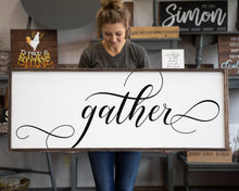 Gather Sign Large Wood Decor Modern Farmhouse Anniversary Gift for Her Dining Room