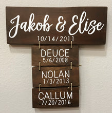 Anniversary Gift | Family Names Wood Sign | Personalized Family Name Signs | Housewarming Gift