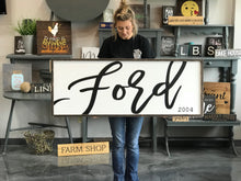Large Framed Last Name Family Sign
