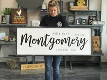 Large Framed Last Name Sign