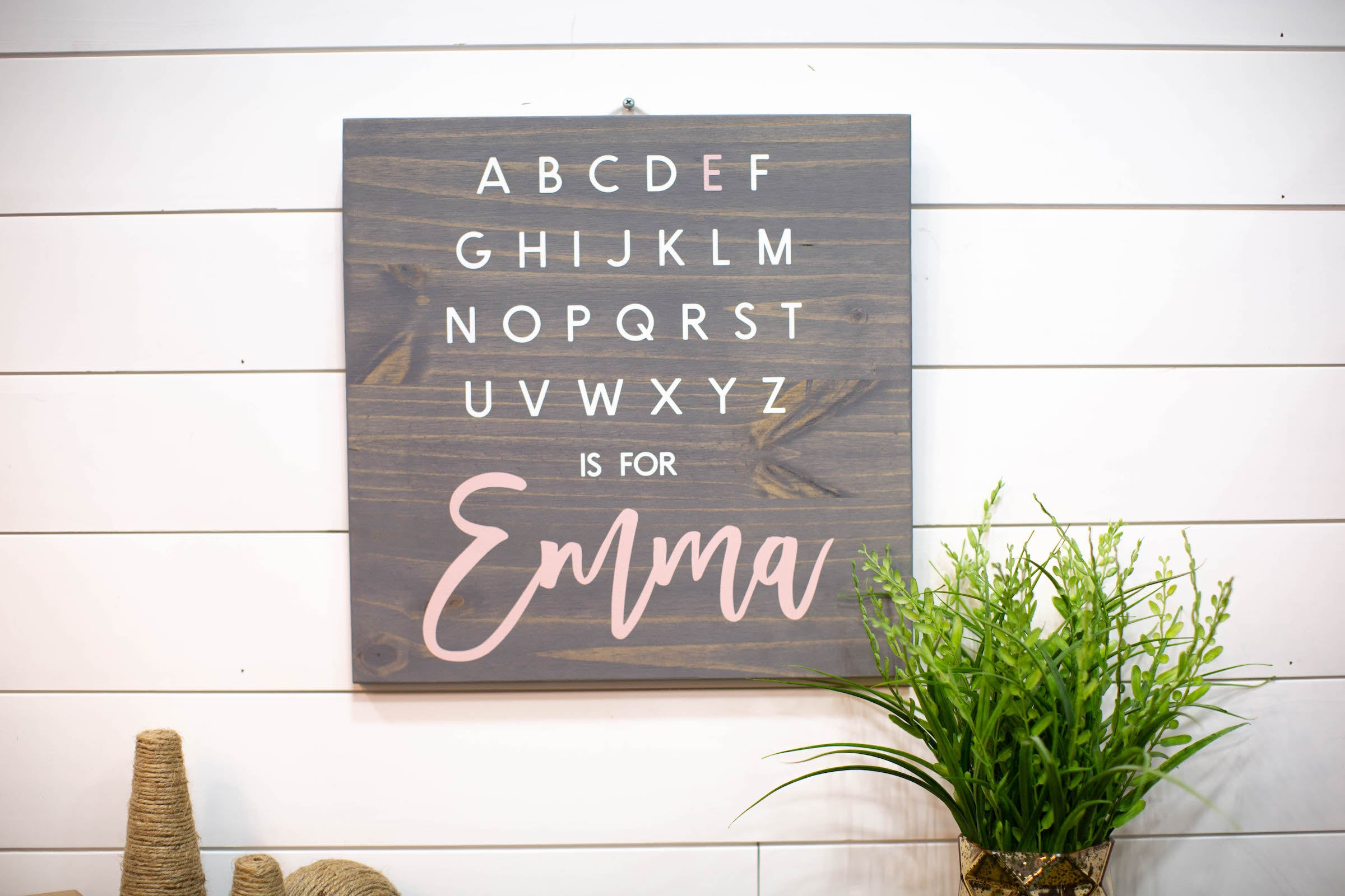 Personalized Baby Gift Alphabet Sign