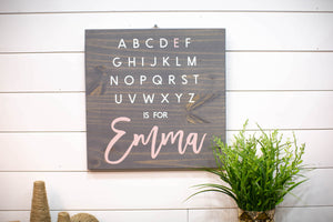 Baby Gift Alphabet Sign for Corning Eye Center