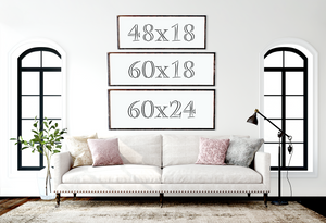 Large Framed Farmhouse Style Home Coordinates Sign