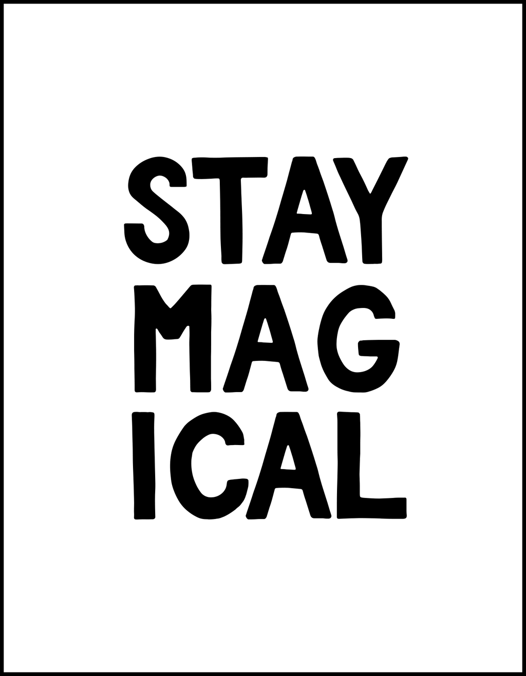 Kids Sign: Stay Magical for Private Event