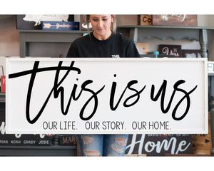 Large Framed Farmhouse Style This Is Us Sign Personalized Sign