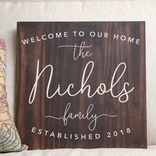 Mother's Day Gift Personalized Family Name Wood Sign Rustic Wedding Last Name Sign Custom Family Sign Personalized Name Sign Gift for Her