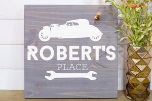 Man Cave Hot Rod Shop Sign