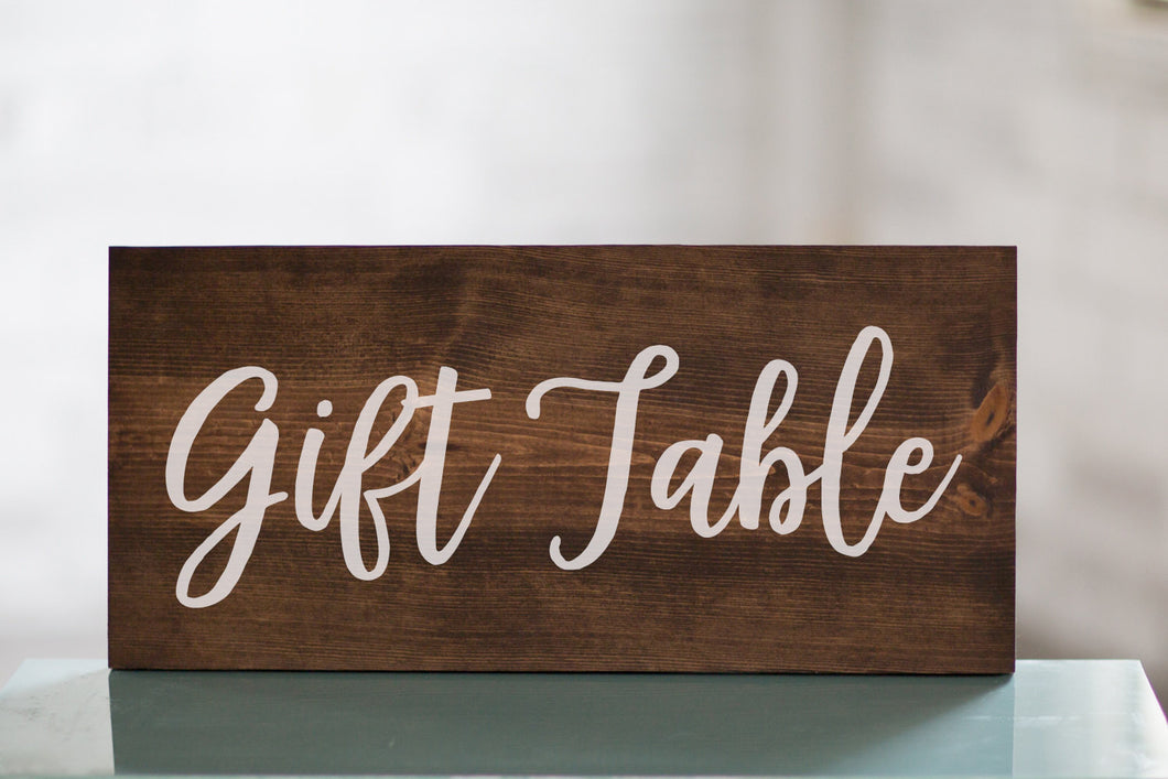 Wedding Gift Table Wooden Sign Decor | Baby Shower Gift Table | Reception Decor | Gift Sign