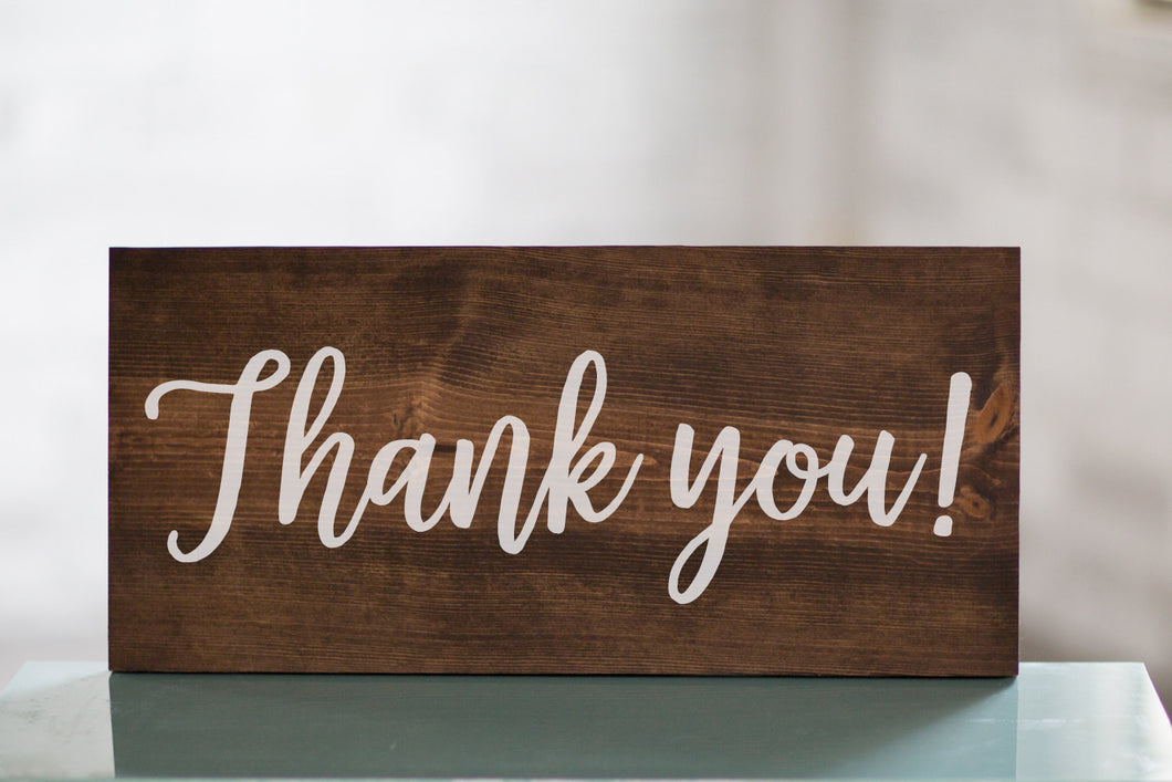 Wedding Thank you! Table Wooden Sign Decor | Photo Prop | Baby Shower Gift Table | Cards and Gifts