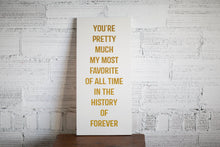 Home Decor Favorite Love Quote | Handmade Wooden Sign | Custom Wood Wall Art Sign