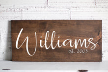 Last Name Sign | Family Name Wood Sign | Custom Wedding Gift | Wedding Establish Sign