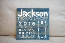 Personalized Newborn Baby Gift Sign  | Nursery Decor | Personalized Wall Decor Name Sign Gift