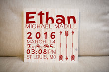 Personalized Newborn Baby Gift Sign  | Nursery Decor | Personalized Name Sign | Baby Shower Gift