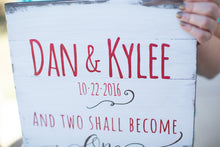 Personalized Wedding Gift | And Two Shall Become One | Home Decor | Personalized Name Sign