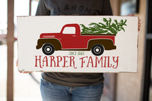 Vintage Truck Family Name Wood Sign | Christmas Gift | Merry Christmas Pickup Sign | Family Sign