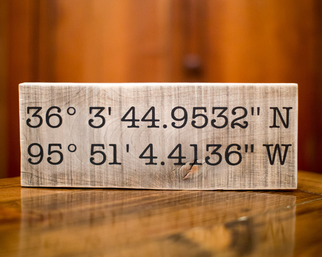 Wedding Gift | Latitude Longitude Sign | Gift For Her | GPS Coordinates | Housewarming Gift
