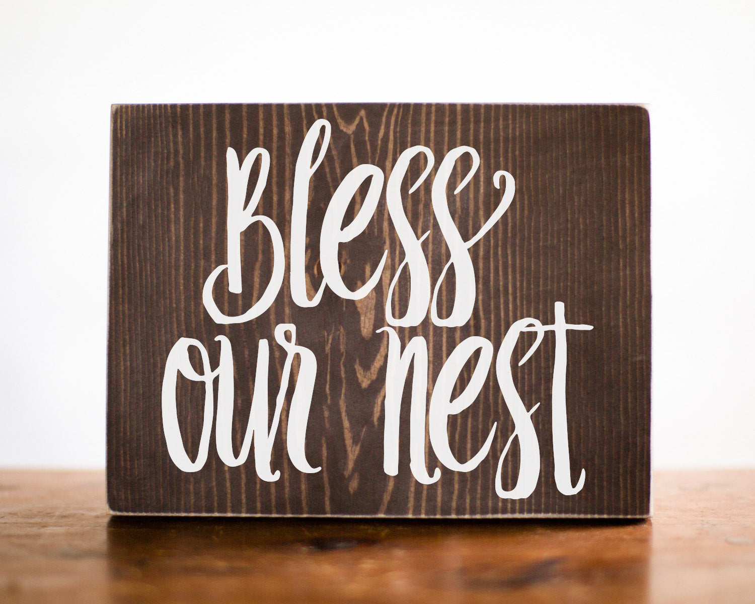 Bless Our Nest Wood Sign Home Decor | Entry Decor | Welcome Sign | Gift For Her