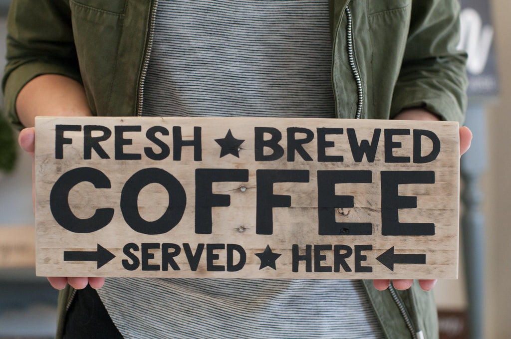 Reclaimed Wood Coffee Home Decor Sign | Gift For Her | Coffee Kitchen Decor | Coffee Wood Sign