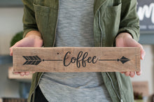 Reclaimed Wood Arrow Coffee Home Decor Sign | Gift For Her | Coffee Kitchen Decor | Coffee sign