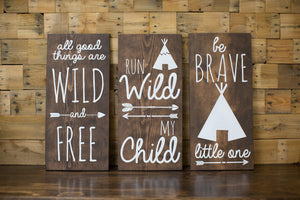Tribal Nursery Wood Signs | Home Decor Baby Shower Gift | Tribal Nursery Decor | Baby's Room Decor