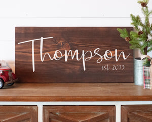 Custom Last Name Sign, Personalized Wedding Gift, Modern Farmhouse Wood Sign, Anniversary Gift for Her, Personalized Wedding Gift