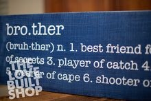 Brother Definition Wall Sign | Boys Room Decor | Baby Gift | Can be personalized | Sibling Sign