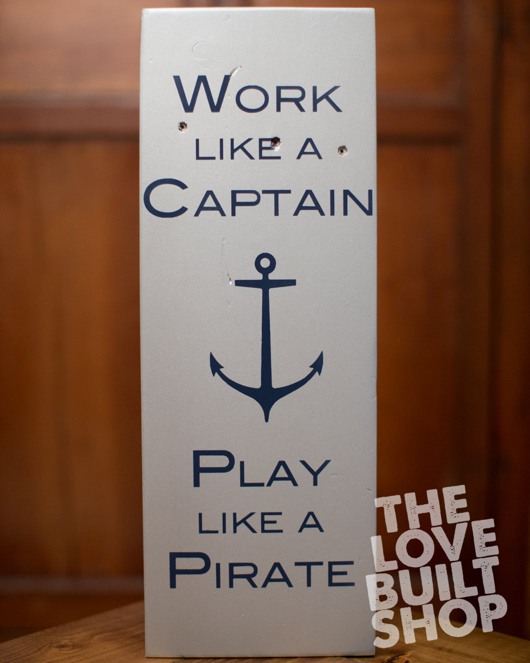 Nautical Wood Pirate Sign | Gift For Him | Beach Decor | Wood Beach Sign | Nautical Decor