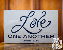 Rustic Wood Home Decor Love One Another Reclaimed Wood Christian Sign Decor Mothers Day Gift
