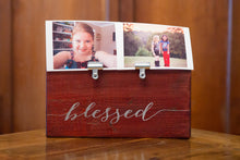 Photo Holder BLESSED Picture Clip Frame | Teachers Gift | Baby Gift | Office Nursery Home