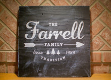 Established Family Home Decor Sign | Reclaimed Wood Family Name Sign |  Personalized Name Sign