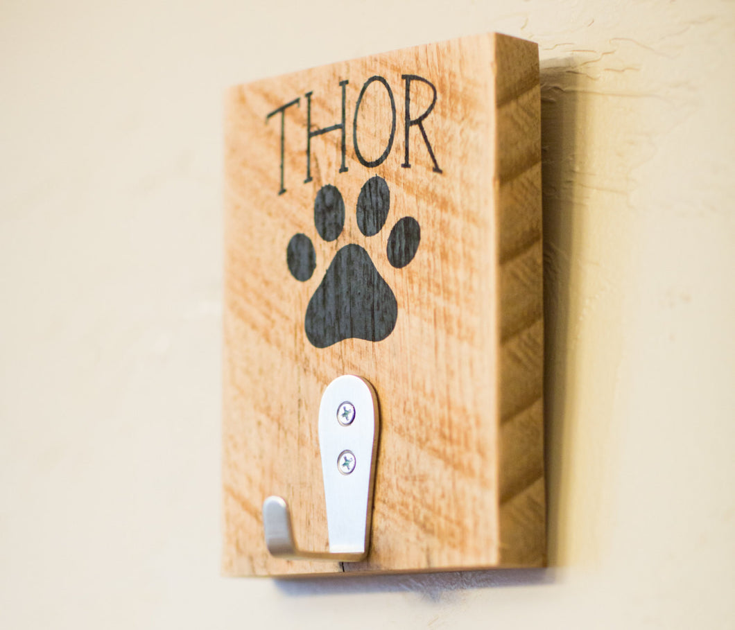 Personalized Dog Leash Reclaimed Wood Wall Decor | Gift For Dog ...