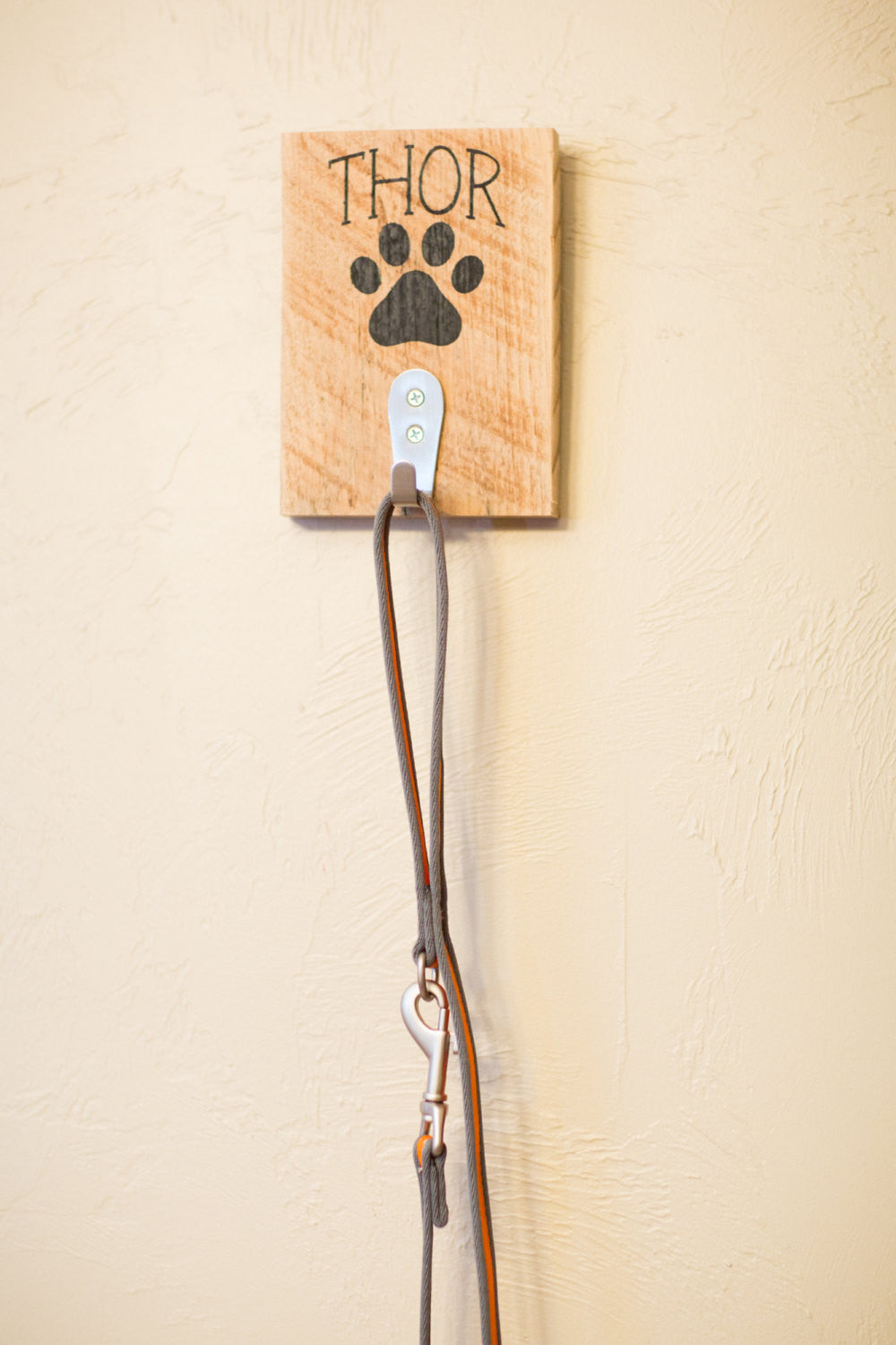 Personalized Dog Leash Reclaimed Wood Wall Decor   | Gift For Dog Lover | Personalized  Leash