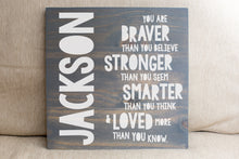 Personalized  Baby Gift You Are Braver  | Nursery Decor | Personalized Name Sign | Baby Shower Gift