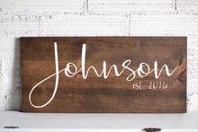 Mother's Day Gift | Last Name Sign | Family Name Wood Sign | Custom Wedding Gift | Wedding Establish Sign